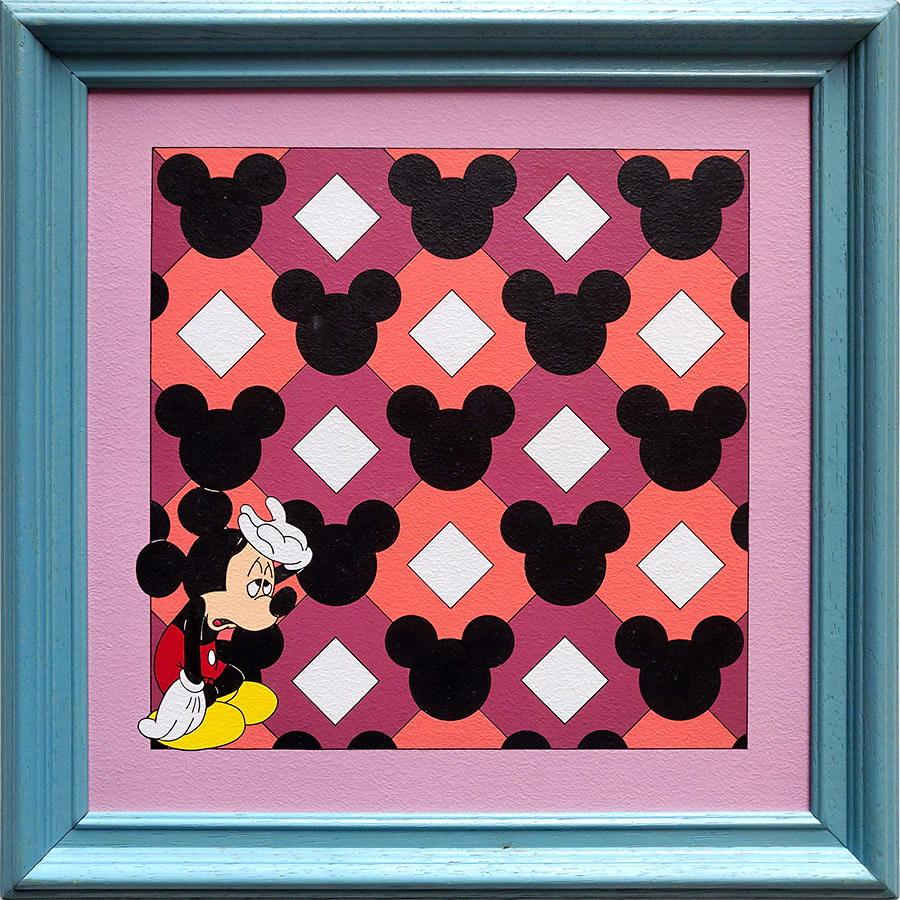 Rosana Fuertes, Sin título, 1997-1998, acrílico sobre cartón passe-partout con marco de madera, 36 x 36 cm