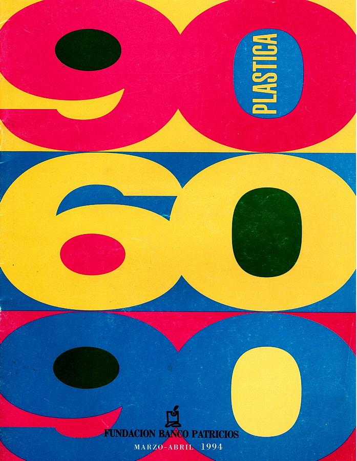 Tapa del catálogo de la exposición 906090, Fundación Banco Patricios, Buenos Aires, 1994.