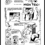 Roberto Jacoby y Santiago Gordín -historietas-1989-1990- Presentimientos cientificos panel-2-de-4-tinta-sobre-papel-1990