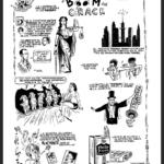 Roberto Jacoby y Santiago Gordín -historietas-1989-1990- Presentimientos cientificos panel-3-de-4-tinta-sobre-papel-1990