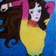 Fernanda Laguna, La chica más linda del mundo, 1994, acrílico sobre tela, 16 x 11 cm