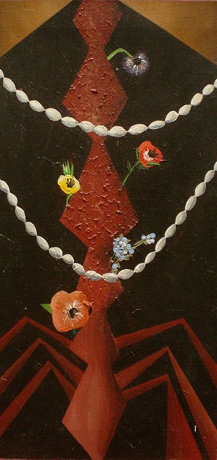Fernanda Laguna, Mujer araña, 1995, acrílico sobre tela, 30 x 60 cm