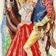 Fernanda Laguna, Buena chica, 1994, acrilico y brillantina sobre tela, 30 x 15 cm