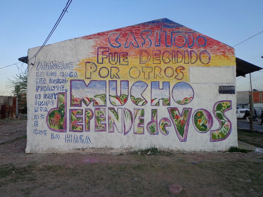 Mural de Javier Barilaro, Barrio La lonja , Villa Fiorito, 2015